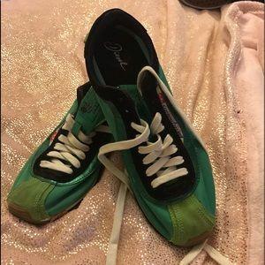 Diesel green sided sneakers size 9.5